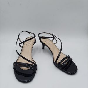 Talbots Black patent leather strappy sandals